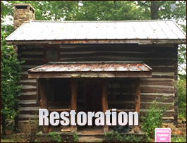 Log Cabin Restoration  Russell County, Virginia